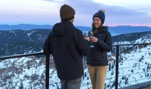 inline image couple celebrating their love at Squaw Valley Resort