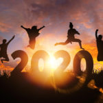 featured image showing people leaping over 2020
