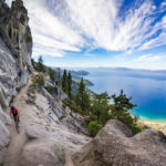 featured image Mountain biker on the Flume Trail at Lake Tahoe, CA
