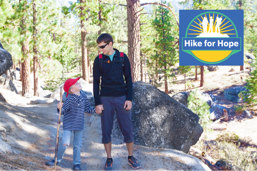 featured image showing father and son hiking in the Lake Tahoe area