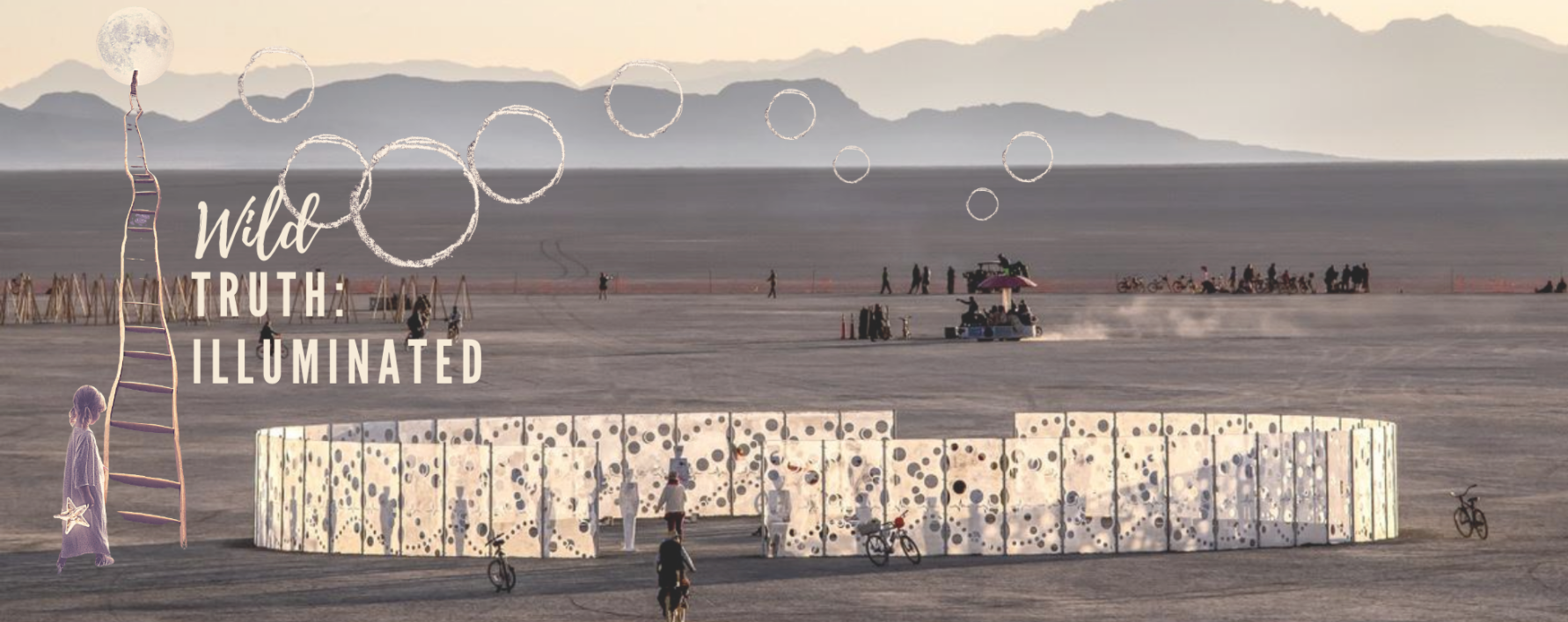 featured image showing a Burning Man art installation out in the Black Rock Desert of Nevada