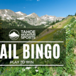 featured image showing a Tahoe Trail to promote Trail Bingo