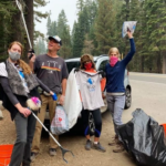 featured image showing 4 MOOPERS cleaning up trash around Lake Tahoe