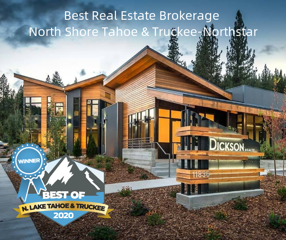 featured image showing Dickson Realty in Truckee, California with an Award Emblem