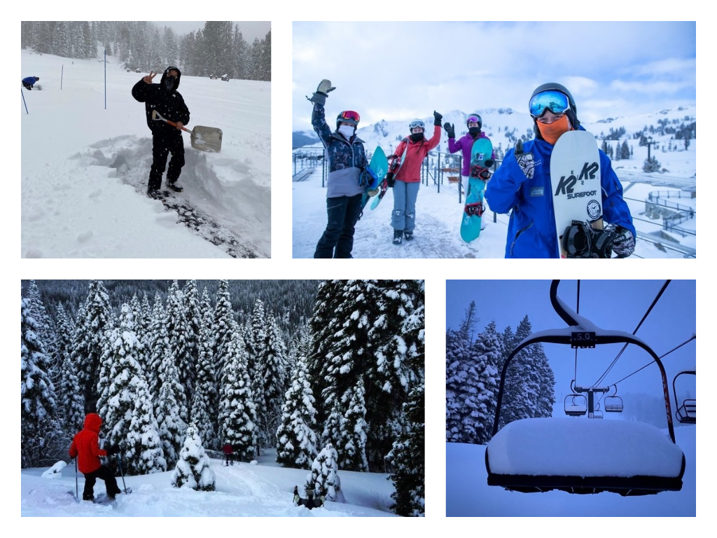 featured image showing Truckee locals celebrating snow