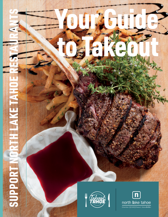 featured image showing the cover of the North Lake Tahoe Takeout Guide