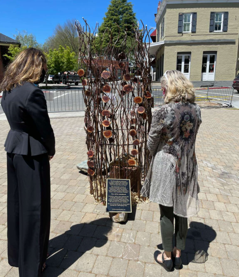 featured image showing Town of Truckee representatives Mayor Klovstad, Vice Mayor Henderson, and Town Manager Jen Callaway attended the private ceremony on May 2 in Nevada City