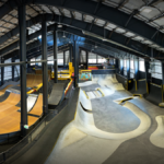Featured image showing the inside of The Bunker, an indoor adventure park for kids and adults near Truckee, CA