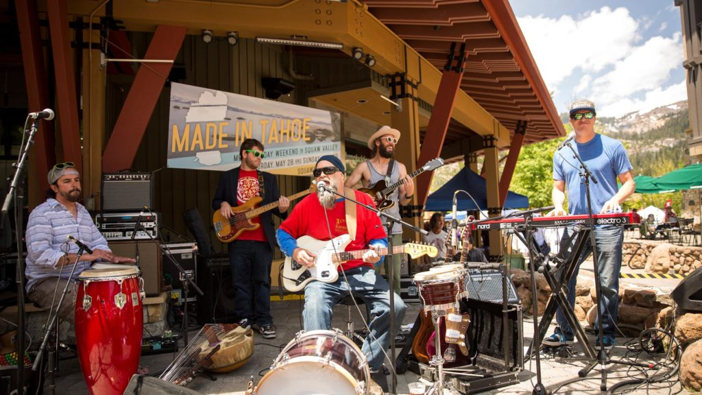 featured image showing a band performing at the Made in Tahoe Festival